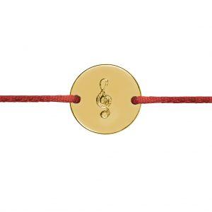 Naramok huslovy kluc kruh Motivo Gold