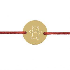 Naramok medvedik kruh zlte zlato Motivo Gold