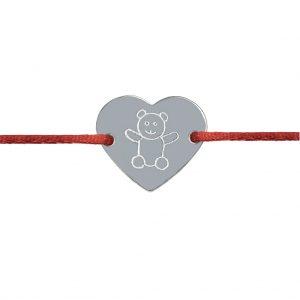 Naramok medvedik srdce striebro Motivo Gold