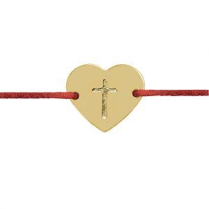 Naramok srdce s krizikom zlte zlato Motivo Gold