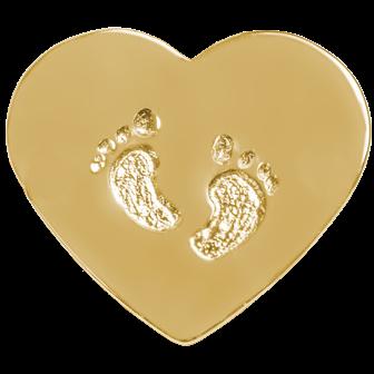 Zlaty medailon detske nozicky Motivo Gold